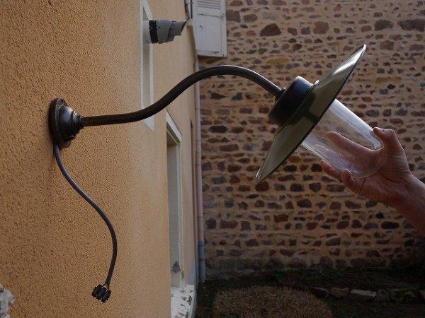 画像1: フランスヴィンテージ 工業系 インダストリアルランプ (1)
