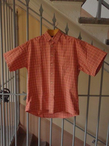 画像1: リベルテ Liberté コットンチェックシャツ 半袖 Lサイズ (メンズ) (1)