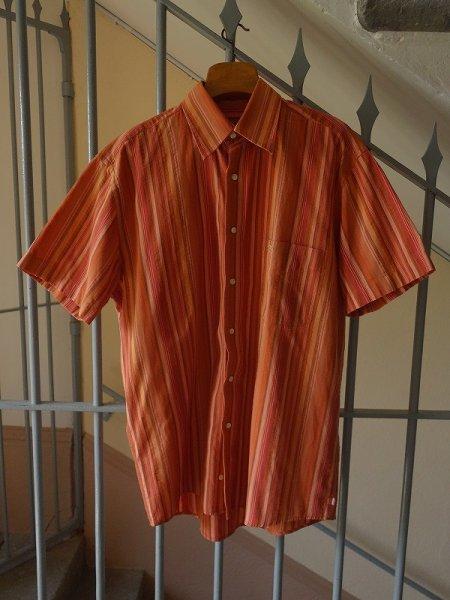 画像1: Armand Thiery AT Company ストライプシャツ 半袖 Mサイズ (1)