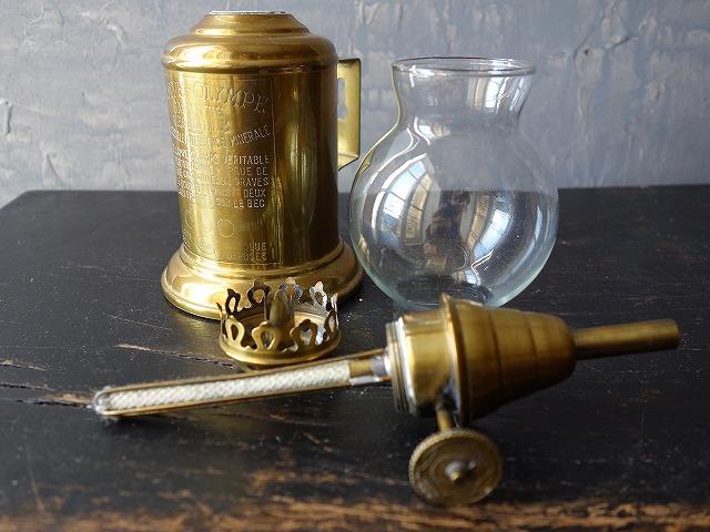 フランスアンティークオランプピジョン型のオイルランプ