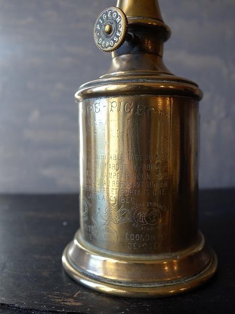 フランスアンティークピジョンオイルランプ