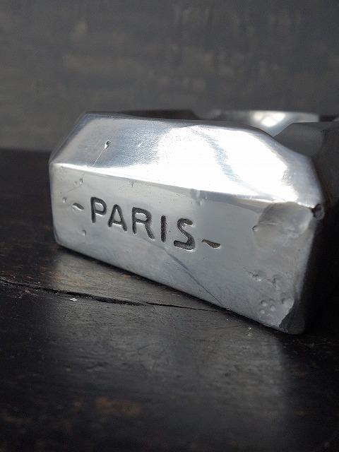 フランスヴィンテージ工業系ノベルティーメタル灰皿