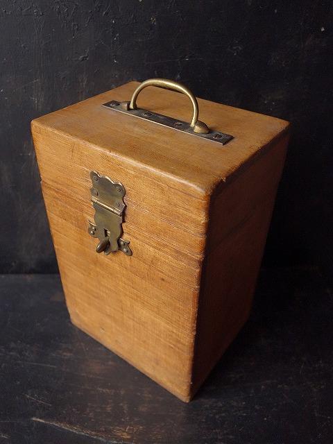フランスヴィンテージ古い木箱小物入れ