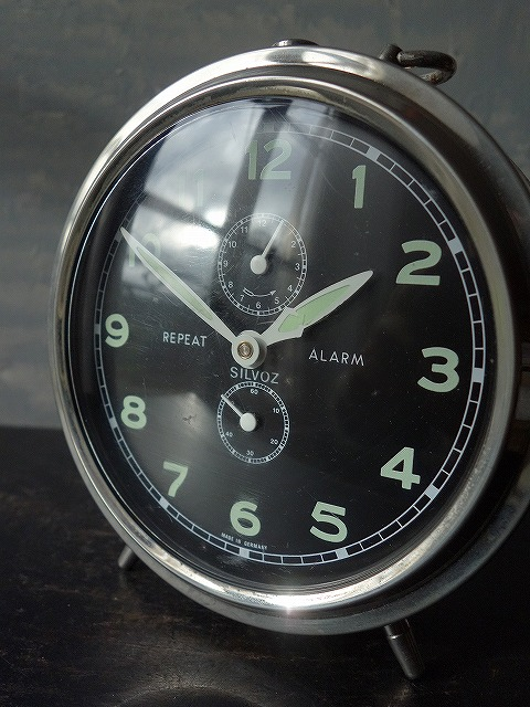 フランスヴィンテージSILVOZドイツ製目覚まし時計