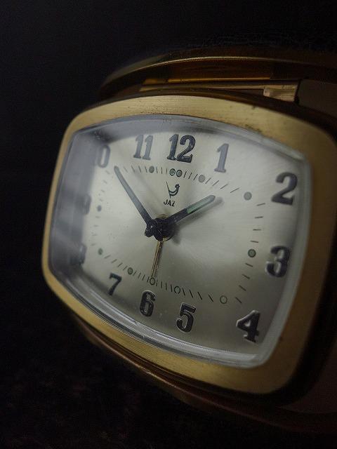 フランスヴィンテージジャズの旅行用目覚まし時計
