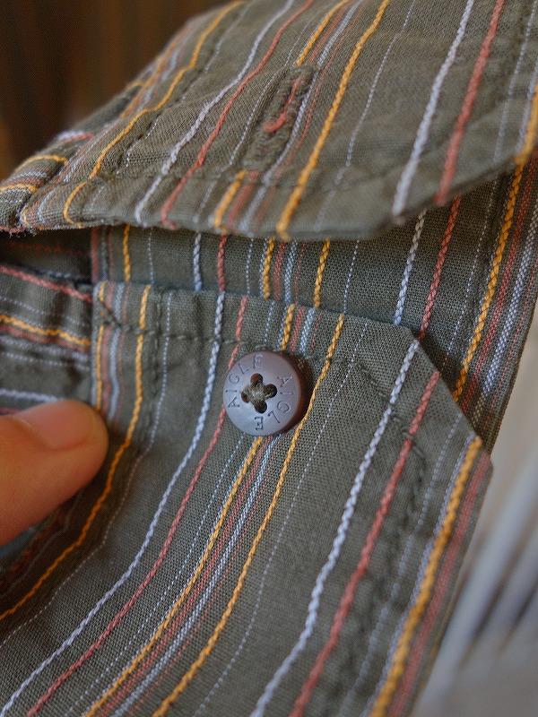 エーグルコットンストライプシャツ長袖