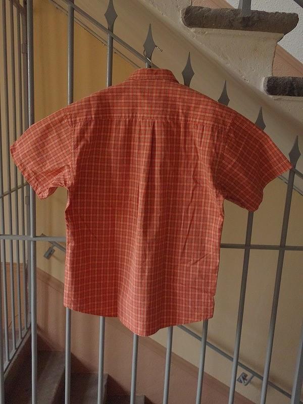 リベルテLiberté コットンチェックメンズシャツ半袖